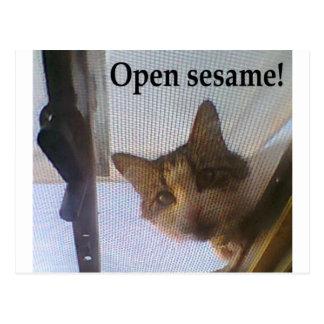 ¡Sésamo abierto! Postales