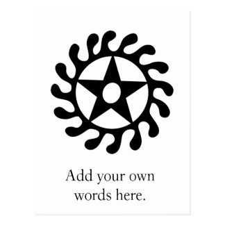 Sese Wo Soban Life Changes Symbol Black Postcard