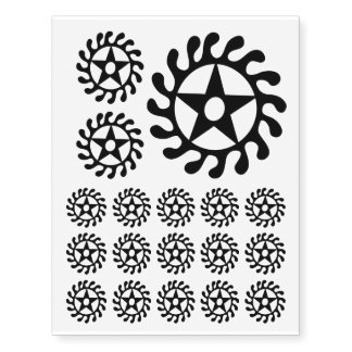 Sese Wo Soban Life Changes Symbol Black Temporary Tattoos