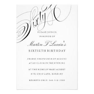 Sesenta invitaciones de la fiesta de cumpleaños en invitacion personalizada