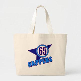 Sesenta y cinco sucede los 65 os regalos de cumple bolsas lienzo