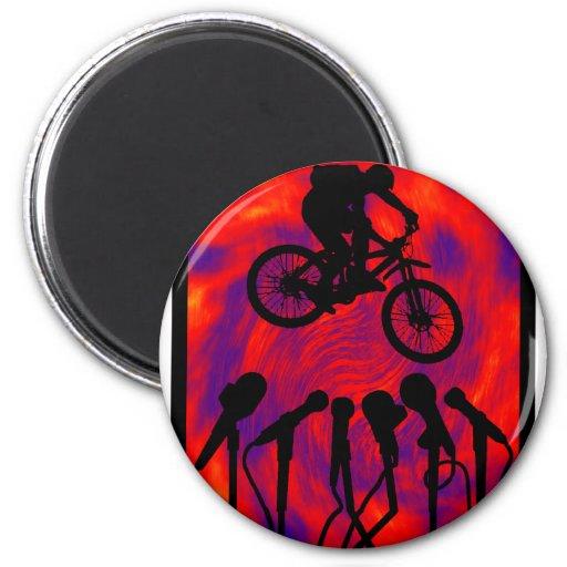 Sesión de atasco de la bici imán