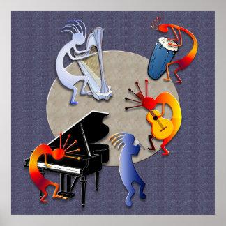 Sesión iluminada por la luna del jazz posters