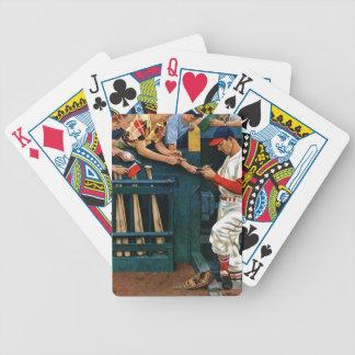 Sesión manuscrita baraja cartas de poker