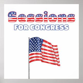 Sesiones para la bandera americana patriótica del  poster