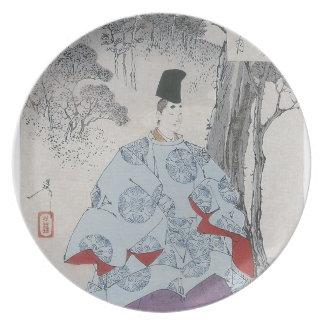 Seson Temple Moon (Sesonji no tsuki) Dinner Plate