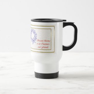 Seson's blessings to customer from business xmas coffee mugs
