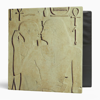 Sesostris I  being Embraced by the God Ptah 3 Ring Binder