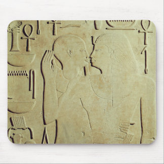 Sesostris I  being Embraced by the God Ptah Mouse Pad