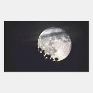 Sesqui Moon Rectangular Sticker