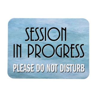 Session in Progress please do not disturb door Magnet