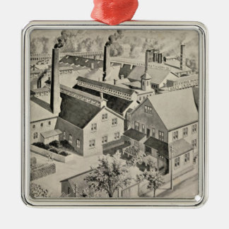 Sessions Foundry Co Square Metal Christmas Ornament
