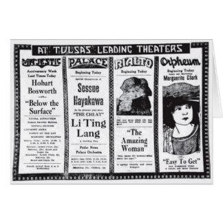 Sessue Hayakawa Marguerite Clark movie ads 1920 Greeting Card