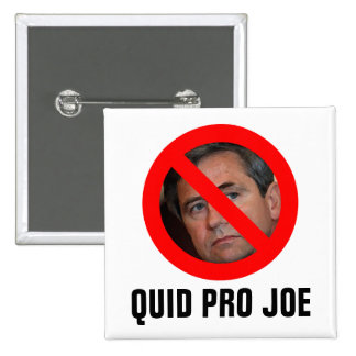 Sestak: QUID PRO JOE Pinback Button