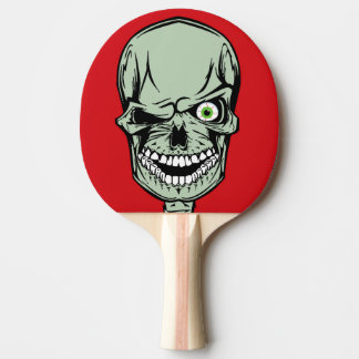 Set 2 - Zombie head with a missing eye, Ping Pong Paddle