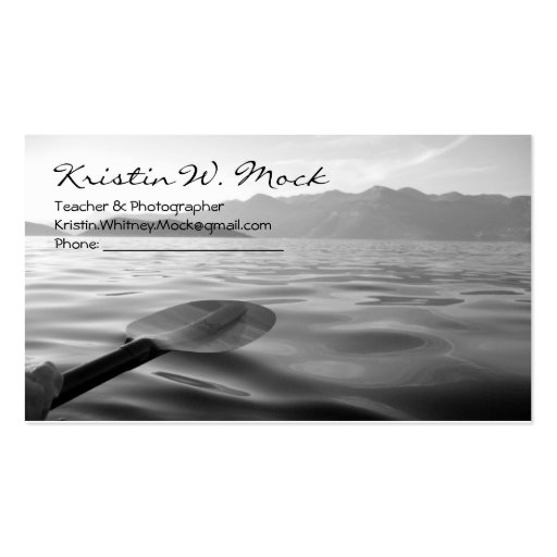 Set a sail on a moment of bliss business card template