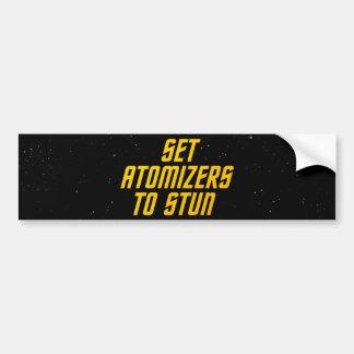 Set Atomizers to Stun Car Bumper Sticker