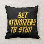Set Atomizers to Stun Throw Pillow