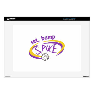 "Set, Bump, Spike Decals For 15"" Laptops"