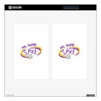 Set, Bump, Spike Decals For Kindle Fire