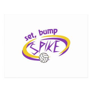 Set, Bump, Spike Postcard