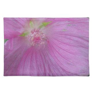 Set de mesa de flor lila con sello apuesto de flor mantel