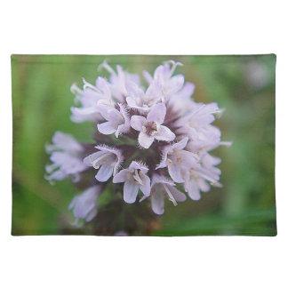 Set de mesa flores pequeñas lilas de caza manteles individuales