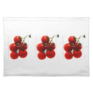 Set de mesa tomates en el vidrio de Abstracto Manteles