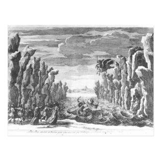 Set design by Torelli for 'Andromede' Postcard