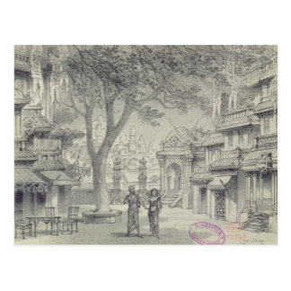 Set Design for Act II of the opera 'Lakme' Postcard
