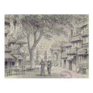 Set Design for Act II of the opera 'Lakme' Postcard
