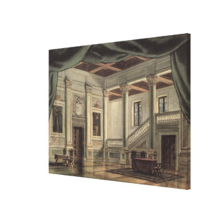 Set design for Act III Canvas Print