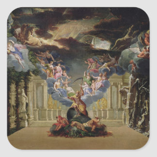 Set design for 'Atys' by Jean-Baptiste Lully Square Sticker