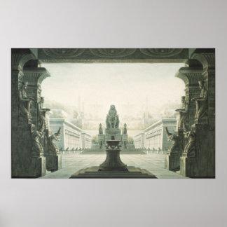 Set design for last scene of 'The Magic Flute' Poster
