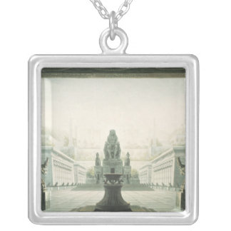 Set design for last scene of 'The Magic Flute' Silver Plated Necklace