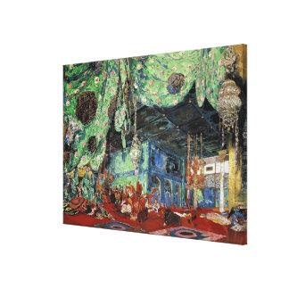 Set design for 'Scheherazade' Canvas Print