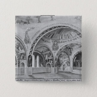 Set design for the church of Chatillon. Pinback Button