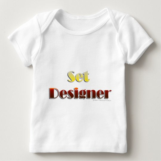 Set Designer (Text Only) Baby T-Shirt
