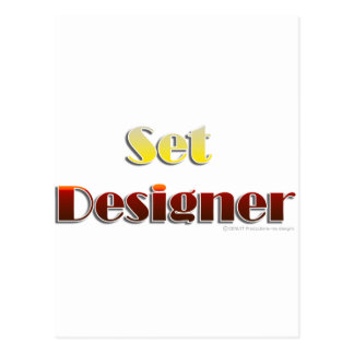 Set Designer (Text Only) Post Card