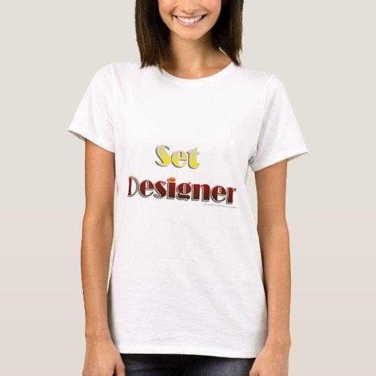 Set Designer (Text Only) T-Shirt