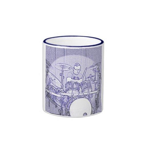 Set Drummer Coffee Stein or Mug