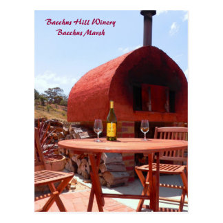 set for two, Bacchus Hill Winery Bacchus Marsh Postcard