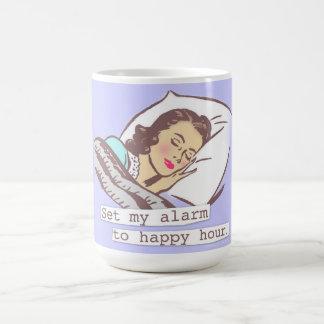 Set My Alarm to Happy Hour Classic White Coffee Mug