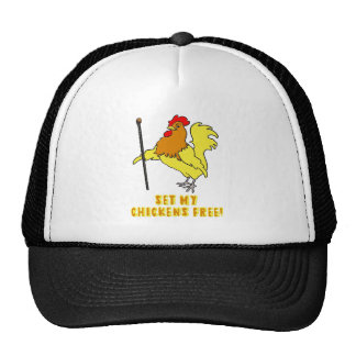 Set My Chickens Free -- Moses Rooster Trucker Hat