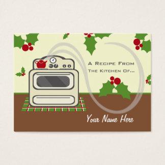 Set Of 100 Christmas Recipe Cards - Retro Kitchen