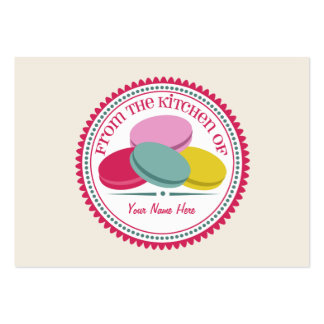 Set Of 100 Recipe Cards - French Macarons Large Business Cards (Pack Of 100)