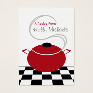 Set Of 100 Recipe Cards - Red Cooking Pot