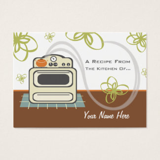 Set Of 100 Recipe Cards Retro Stove Modern Kitchen