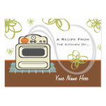 Set Of 100 Recipe Cards Retro Stove Modern Kitchen Large Business Cards (Pack Of 100)