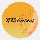 Set of 20 Round Orange Swirl Stickers
